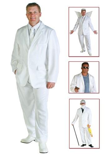 Disfraz de traje blanco talla extra