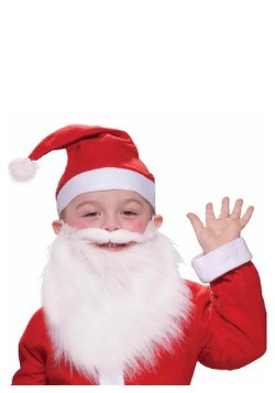 Barba y bigote de Santa para niños