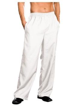 Pantalones blancos de hombre talla extra