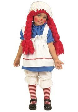 Traje de muñeca de trapo de niña