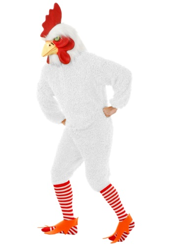 Disfraz de gallo blanco talla extra