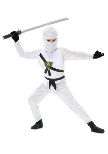 Disfraz infantil de Ninja blanco
