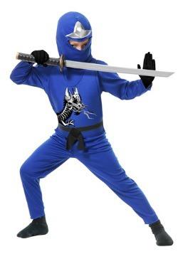 Disfraz infantil azul de Ninja Avengers Serie II