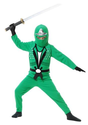 Disfraz infantil verde Ninja Avengers Serie II para niños