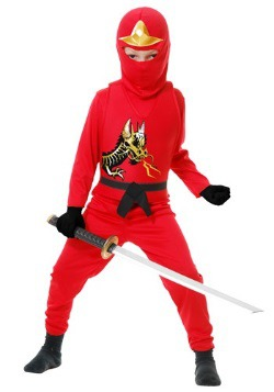 Disfraz infantil rojo Ninja Avengers Serie II