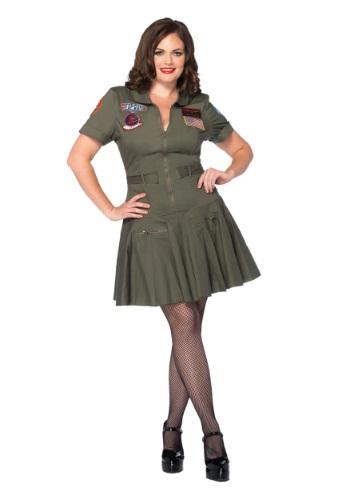Vestido de vuelo Top Gun de talla grande nueva imagen