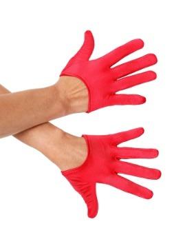 Guantes de raso minicropa rojos