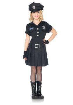 Disfraz de recreo de policía para niñas
