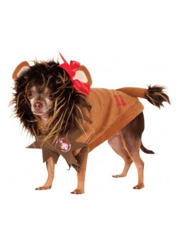 Disfraz para mascota de león cobarde