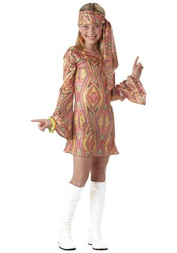 Disfraz infantil de chica disco