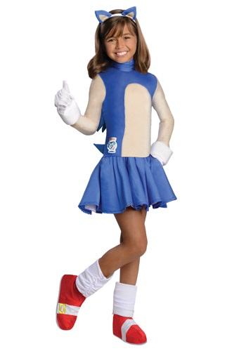 Disfraz infantil de Sonic Girls