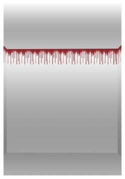 Rollo de borde de sangre goteante