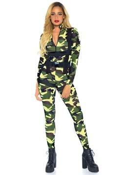 Disfraz de paracaidista militar bonito
