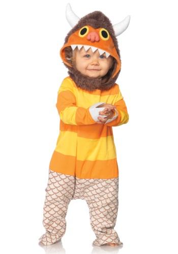 Bebé donde las cosas salvajes son el frente del traje de Car