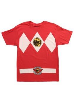 Camiseta disfraz de Power Ranger rojo