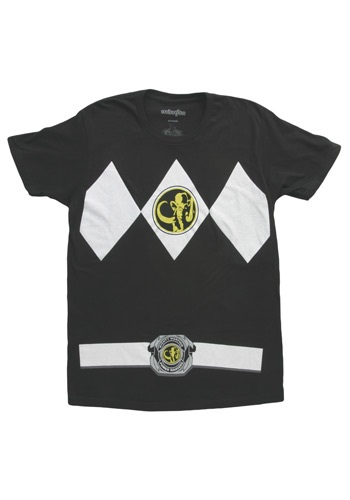 Camiseta de Power Ranger negro