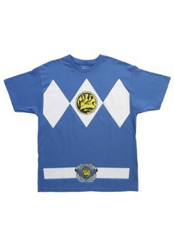 Camiseta de Power Ranger azul