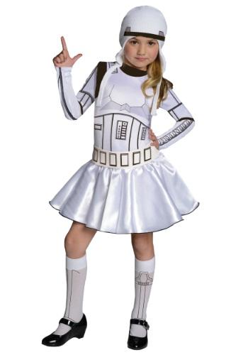 Vestido de disfraz de chica Storm Trooper