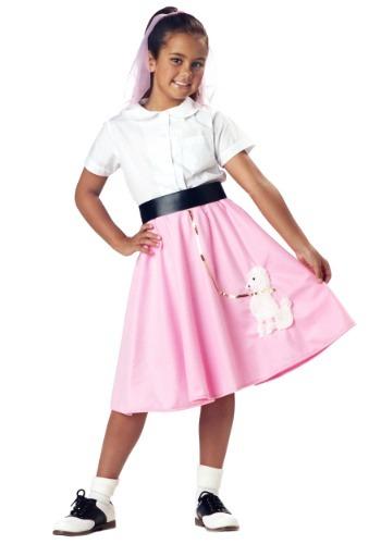 Falda rosa de caniche para niños