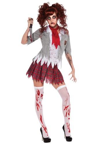 Disfraz de niña de la escuela Zombie