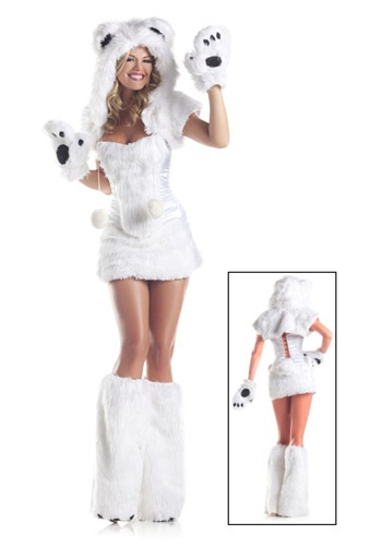 Disfraz de oso polar de lujo de 8 piezas