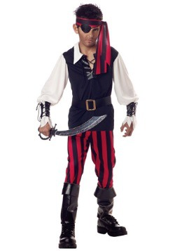 Disfraz de pirata garganta cortada para niños