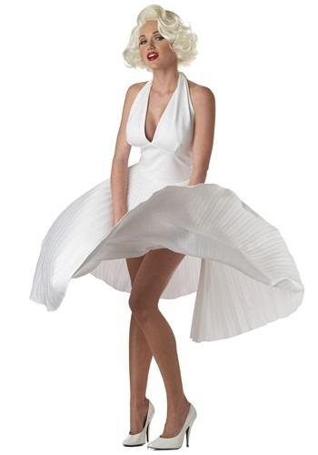 Vestido blanco de lujo de Marilyn Monroe