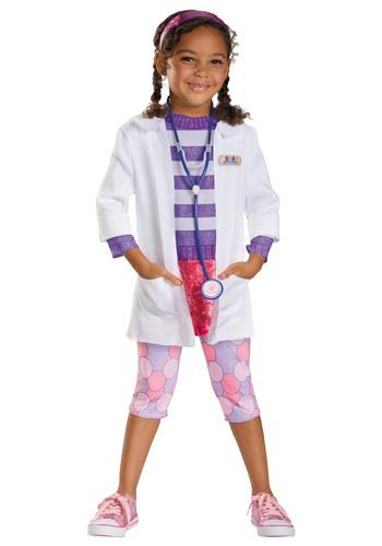Disfraz de Doctora Juguetes deluxe para niños pequeños