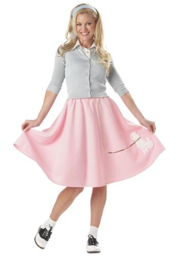 Falda poodle rosa para adulto