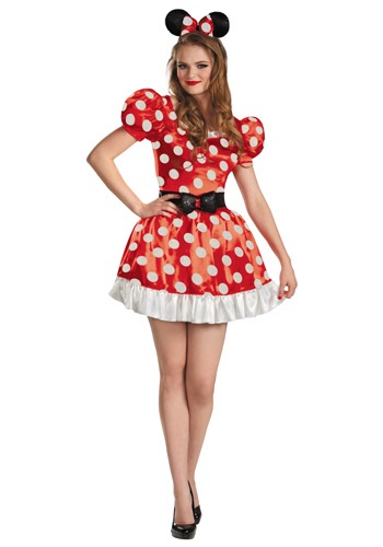 Disfraz rojo para adulto de Minnie Classic