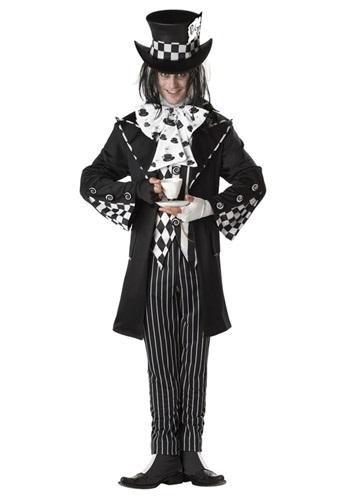 Disfraz de Sombrerero Loco oscuro talla extra