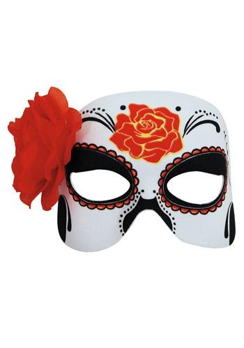 Media máscara del Día de Muertos para Mujer