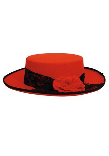 Sombrero rojo del día de los muertos de las mujeres