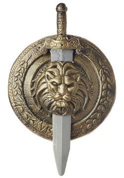 Escudo de combate y espada de gladiador