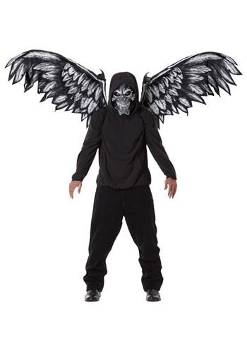 Máscara y alas de ángel caído