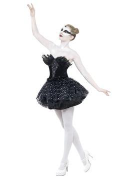 Disfraz de mascarada de cisne gótico