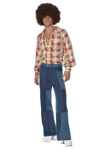 Pantalones de parches para hombre