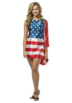 Vestido de bandera para adolescente