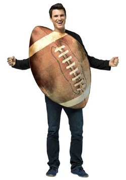 Disfraz de balón de fútbol americano Get Real para adulto