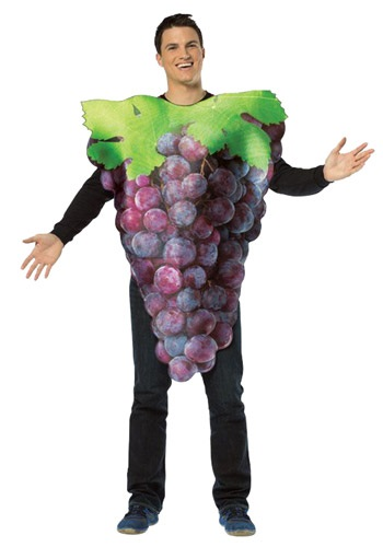 Disfraz para adulto de uvas moradas