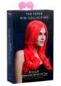 Fiebre Styleable Khloe Neon peluca roja frente