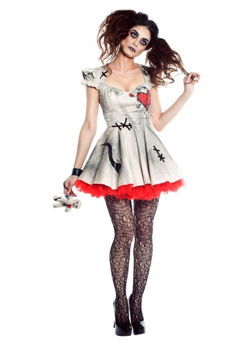 Disfraz de muñeca voodoo para mujer