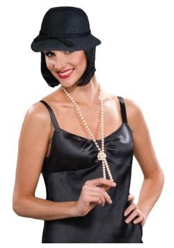Gorra negra estilo flapper
