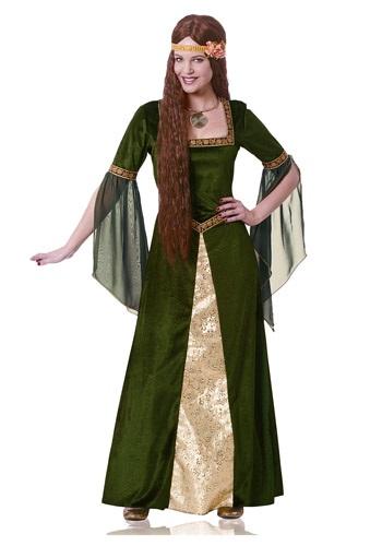 Disfraz de mujer renacentista verde para adulto