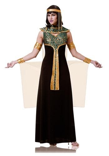 Disfraz de Cleopatra en negro y azulado para adulto
