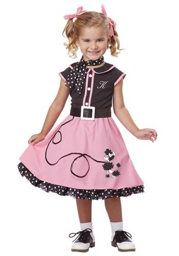Disfraz de Poodle tierno de los 50s para niños pequeños