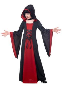 Bata infantil roja con capucha