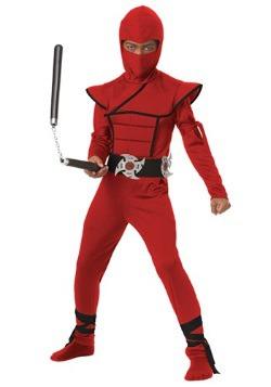 Disfraz de Ninja Stealth Rojo para Niños