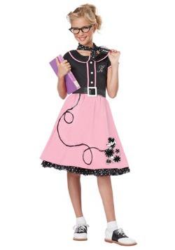 Disfraz de novia de los años 50 de color rosa