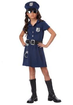 Disfraz de oficial de policía de niñas